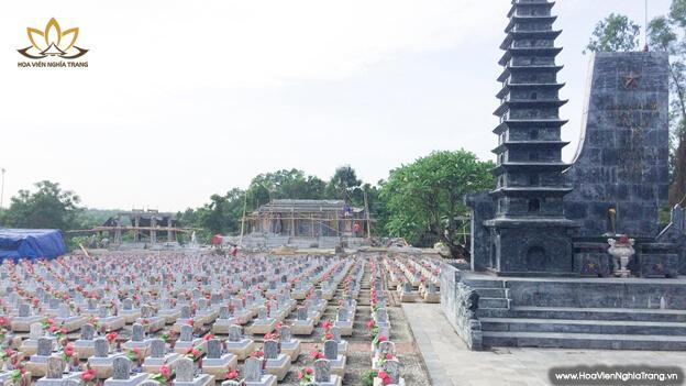 Hình ảnh nghĩa trang Trường Sơn