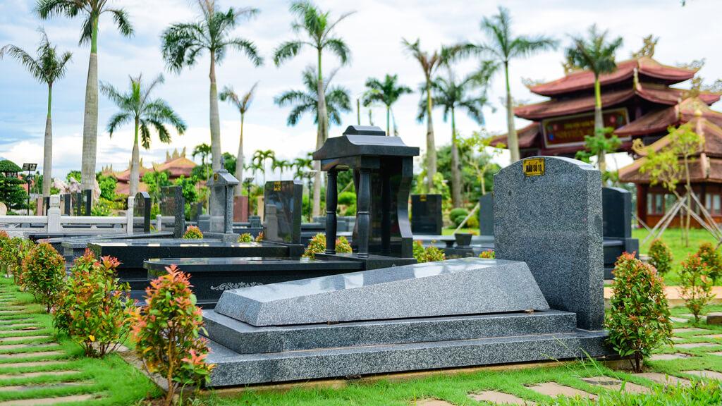 Mẫu mộ đơn tại Hoa Viên Bình An