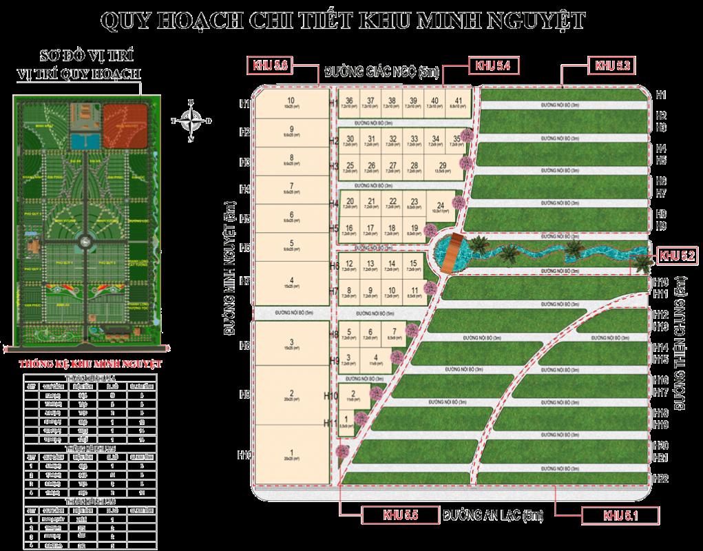 Quy hoạch chi tiết khu Minh Nguyệt