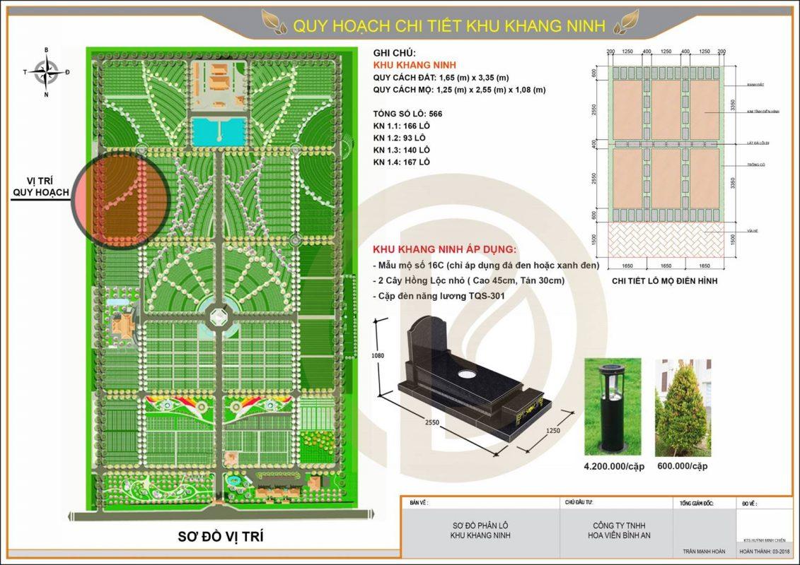 Quy hoạch chi tiết khu Khang Ninh